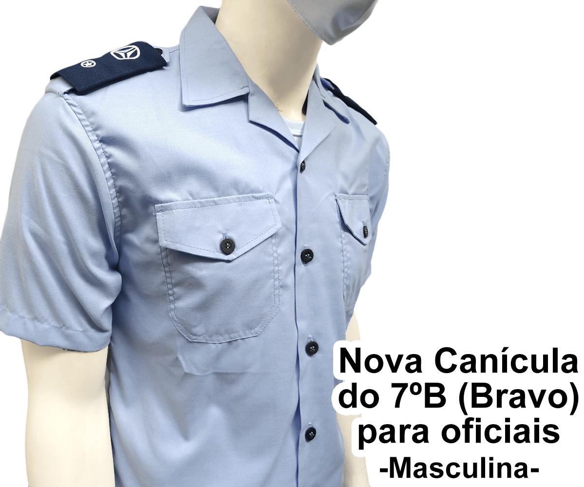 Nova Canícula Azul Interna Masculina para Oficiais - 7º B