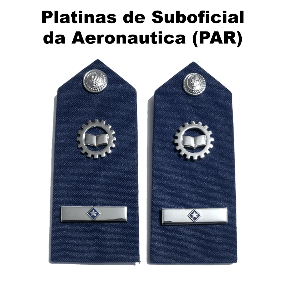 Platinas de Suboficial da Aeronáutica (Par)