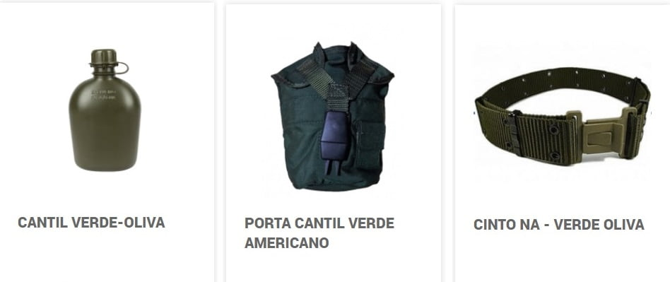 Cantil + Porta Cantil Americano + Cinto NA