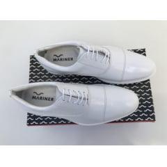 Sapato Branco Masculino Envernizado da Aeronáutica