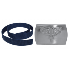 Cinto Azul com Fivela Prateada da Aeronáutica