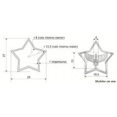 Distintivo da EPCAR metálico para uso na gola