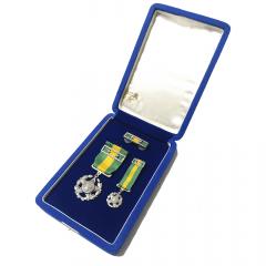Estojo com Medalhas de 20 anos de Tempo de Serviço