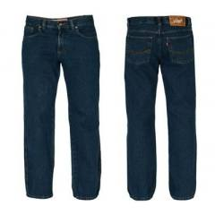 Calça Jeans Azul Marinho  Cintura Alta Unissex