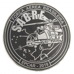Bolacha da turma SABRE - EPCAR 2019 (Emborrachada)