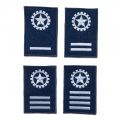Insígnia/Distintivo de manga para alunos da EEAR - Azul Termocolante (PAR)