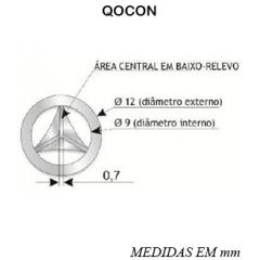 Distintivos metálicos de quadro para uso na gola