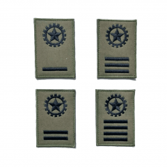 Insígnia/Distintivo de manga para alunos da EEAR - Verde c/ velcro (PAR)