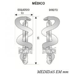 Distintivos de quadro para Platinas (Par)