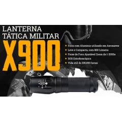 Lanterna Tática Militar Recarregável de LED