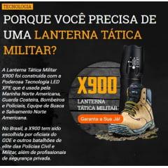 Lanterna Tática Militar de LED Recarregável