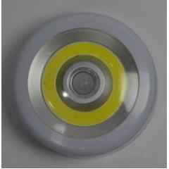 Luminária com disco de iluminação em led e sensor de presença