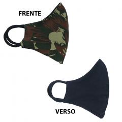 Máscara Camuflada do Exército (Dupla Face Camulada e Preta)