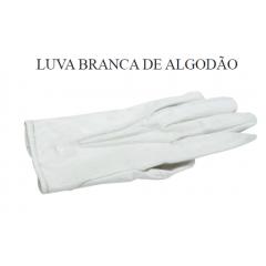 Luva branca de algodão